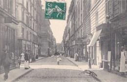 PARIS XVII  Rue SAUSSURE à La Rue LEBOUTEUX  Animé Commerces COIFFEUR BARBIER Epicerie Sptés De CAFES Timbre 1908 - Distretto: 17