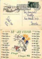 Cartolina 35° Giro D'Italia-18° Tappa Cuneo/St.Vincent 6.6.1952 - 6. 1946-.. Repubblica