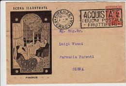 REGNO-PERFIN SCENA ILLUSTRATA-60c(205)-Busta Illustrata Firenze->Siena 9.11.1926 - Italia