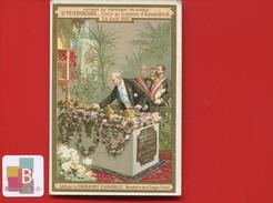 Chocolat Aiguebelle Jolie Chromo Didactique Entente Franco-russe France Russie Saint-Pétersbourg Tombeau Alexandre III - Aiguebelle