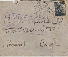 REGNO-REGIA NAVE SAN GIORGIO 1.7.1916-20 Su 15c(106)Busta Viaggiata X Cagli - Italia