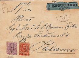 REGNO - 50c+20c FLOREALE (72+76) - Espresso Viaggiato Cefalù->Palermo 15.7.1902 - Italia
