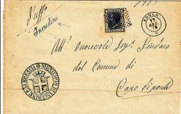 REGNO-20c(26)-INCUDINE Corsivo+EDOLO 2c-Piego X Capo Di Ponte 23.9.1875 - Italia