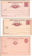 REGNO-TRE DIVERSE CARTOLINE POSTALI 7 1/2 Cent CON RISPOSTA (Mod.90/92/97)-Nuove - Italia