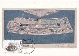 D27921 CARTE MAXIMUM CARD FD 2014 NETHERLANDS - ISLAND DESHIMA - NETHERLANDS-JAPAN - LEIDEN CP ORIGINAL - Aardrijkskunde
