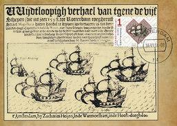 """D27922 CARTE MAXIMUM CARD FD 2014 NETHERLANDS - SHIP """"DE LIEFDE"""" - NETHERLANDS-JAPAN CP ORIGINAL - Boten"""