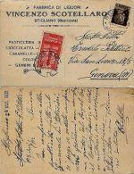 """REGNO-""""SCOTELLARO""""20c Accademia Navale+10c Imperiale(245+300) Stigliano 7.3.1932 - Italia"""