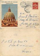 PIO XII-VEDUTE 1950 C11.1(Prima Riga 42mm)-CP 35 Lire-Vaticano 17.1.1953 - Italia