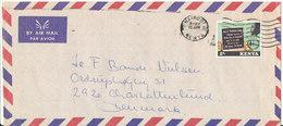 Kenya Air Mail Cover Sent To Denmark Nairobi 16-1-1979 ?? Single Franked - Kenya (1963-...)