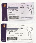 Alt969 Carta Imbarco Boarding Pass Flight Ticket Volo Airline Biglietto Aereo Thai Airways Thailand Bangkok Ko Samui - Europe