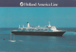 M/S Nieuw / M/S Noordam - Cruise Ship - Ocean Liner - Holland America Line - Paquebot - 2 Scans - Steamers