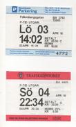 Alt963 Biglietto Parcheggio Stoccolma Svezia Parking Ticket Park Car Access Voiture Stockholm Parkering Sweden - Transportation Tickets