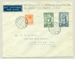 Nederland - 1939 - LP-Brief / Airmail Cover Van Maurik Per PAA / US Airmail Naar New York - Foreign Mail On PAA Flight - Periode 1891-1948 (Wilhelmina)