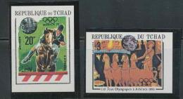 109 Sport Jeux Olympiques (olympic Games) 1896 Athènes Grèce (Greece)  Tchad Non Dentelé (imperforate) Cheval (horse)