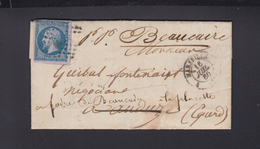 Lettre 1860 Marseille - Poststempel (Briefe)