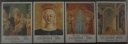Uganda 1991 Piero Della Francesca ** MNH Yvert 848/52