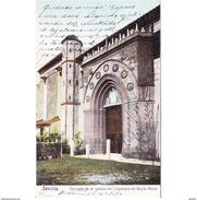 SVLLTPA1961CPA-LFTD8220TARI.Tarjeta Postal DE SEVILLA.Edificios.IGLESIA DEL CONVENTO DE SANTA PAULA En  SEVILLA - Iglesias Y Catedrales