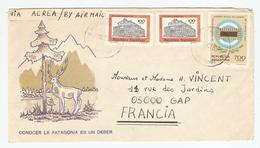 ARGENTINA ARGENTINE LETTER LETTRE 25/10/1980 POUR GAP FRANCE - CONOCER LA PATAGONIA ES UN DEBER -  2 Scans - Briefe U. Dokumente