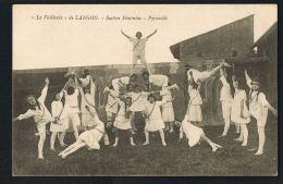 LANGON - Gironde - La VAILLANTE  De LANGON -Section Féminine -Pyramide - CPA  Scans Recto Verso-PAYPAL SANS FRAIS - Langon