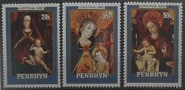 Penrhyn 1980 Christmas ** MNH Yvert 133/35