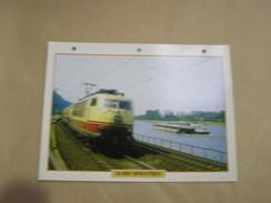 LE RHIN ROMANTIQUE Ligne DB Allemagne Germany Locomotive Fiche Descriptive Ferroviaire Chemin De Fer Train - Fiches Illustrées