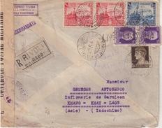 """ITALIE : REC .  POUR """" KHANG- KHAY . ( LAOS ) . DIVERSES CENSURES . 1940 . - Militärpost (MP)"""