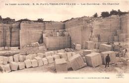 Thème Carrières / DROME - 26 - Saint Paul Trois Chateaux - Les Carrières - Un Chantier - France
