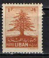 LIBANO - 1952 - CEDRO DEL LIBANO - NUOVO MH - Libano