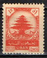 LIBANO - 1949 - CEDRO DEL LIBANO - NUOVO MH - Libano