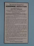 DP Adrienne DEZITTER ( Hector VEREECKE ) Watou 22 Jan 1902 - Woesten 12 April 1949 ( Zie Foto´s ) !