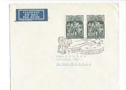 16018 - Christkindl Cover 20.12.1967 Pour Basel + Vignette Flugpost - Noël