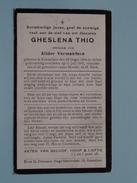 DP Gheslena THIO ( Alidor VERMANDERE ) Rousselare 28 Oogst 1894 - 11 Juli 1933 ( Zie Foto´s ) !