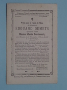 DP Edouard DEMETS ( Emma Marie DEROISSART ) Renaix 31 Dec 1839 - 15 Juin 1890 ( Zie Foto´s ) !