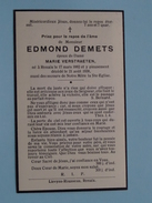 DP Edmond DEMETS ( Marie Verstraeten ) Renaix 17 Mars 1882 - 21 Aout 1938 ( Zie Foto´s ) !