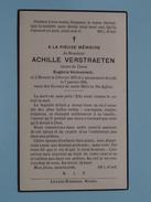 DP Achille VERSTRAETEN ( Eugènie Vermeersch ) Renaix 2 Fev 1875 - 7 Janvier 1936 ( Zie Foto´s ) !