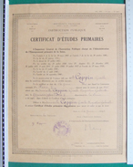 Certificat D'Études Primaires De L'Instruction Publique - Académie De Paris - Département De La Seine - Année 1941 - Diplômes & Bulletins Scolaires