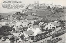 SAINT-FLOUR - ( 15 ) -La Gare Et Vue Générale - Saint Flour