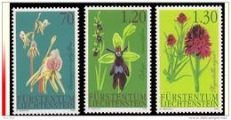 Liechtenstein 1242/44** Flore Orchidées  MNH