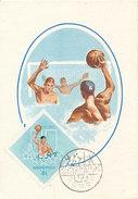 D27995 CARTE MAXIMUM CARD 1965 HUNGARY - WATERPOLO UNIVERSIADE CP ORIGINAL
