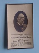 DP Emile Van NOTEN ( Veuf De Dame Léonie Quarré) 17 Nov 1917 à L'age De 66 Ans ( Zie Foto´s ) !