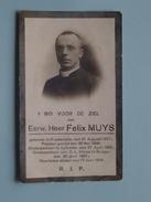 DP E.H. Felix MUYS () Ruysselede 21 Aug 1871 - Brugge 17 Juni 1918 ( Zie Foto´s ) !