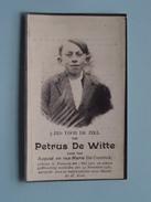 DP Petrus DE WITTE ( Zoon Van August En MarieDe CONINCK ) Evergem 1 Mei 1909 - 24 Nov 1930 ( Zie Foto´s ) !