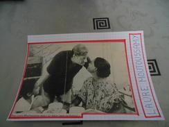AUTOGRAPHE DÉDICACÉ ET AUTHENTIQUE DE LAURE MOUTOUSSAMY SUR COUPURE DE PRESSE COLLÉE SUR CARTON BRISTOL (15 Cm X 21 Cm) - Autographes