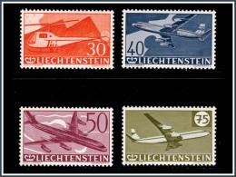 Liechtenstein PA 0034/37*/*  30è Anniverssaire Du Timbre Aérien - Poste Aérienne