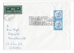 16031 - Christkindl Cover 28.12.1978 Pour Zug Schweiz + Vignette über Christkindl - Noël