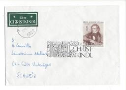 16032 - Christkindl Cover 28.12.1978 Pour Unterägeri Schweiz + Vignette über Christkindl - Noël
