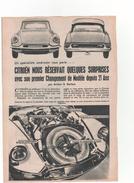CITROEN   La DS-19   1956 - Publicité