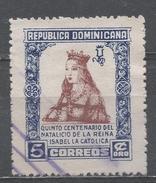 Dominican Republic 1951. Scott #446 (U) Queen Isabella ** - Dominicaine (République)