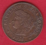 France 1 Centime IIIe République - Cérès - 1890 A - France