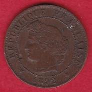 France 1 Centime IIIe République - Cérès - 1892 A - France